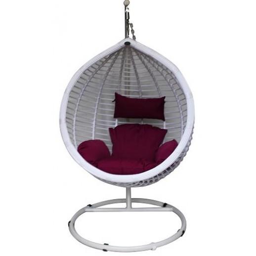 Кресло подвесное Квимол КМ-0021 (большое белое)