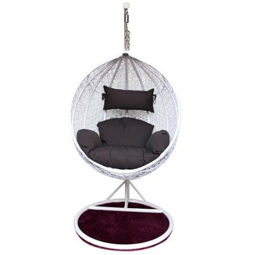 Кресло подвесное Квимол КМ-0031 (большое белое)