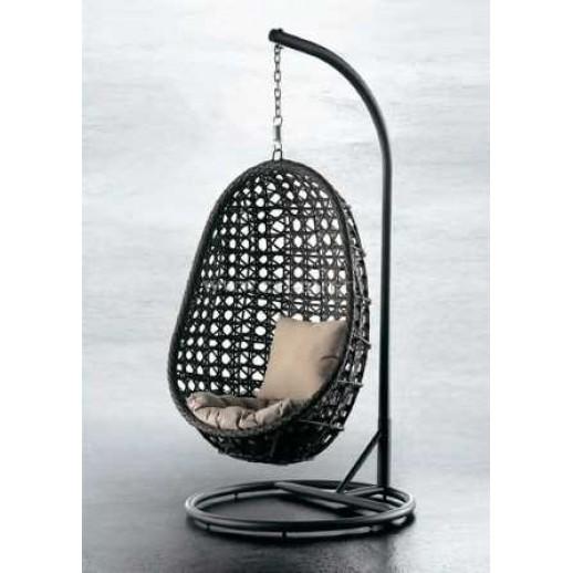 """Подвесное кресло из искусственного ротанга""""Флоренция""""( коричневые с подушкой )"""