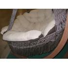 """Подвесное кресло """"Картахена"""" с деревянным каркасом(бежево-коричневое)"""