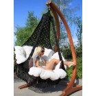 """Подвесное кресло """"Картахена"""" с деревянным каркасом(черное)"""