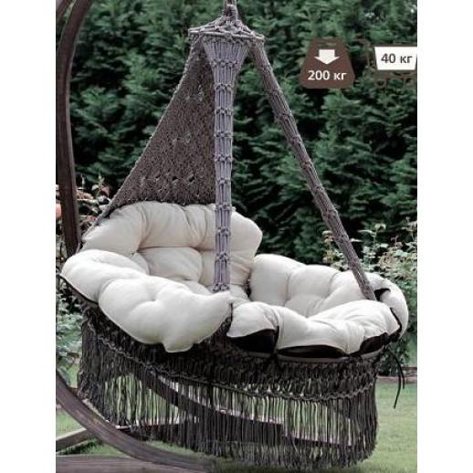 """Подвесное кресло с подушками """"Cartagena"""" (коричневое)(без каркаса)"""