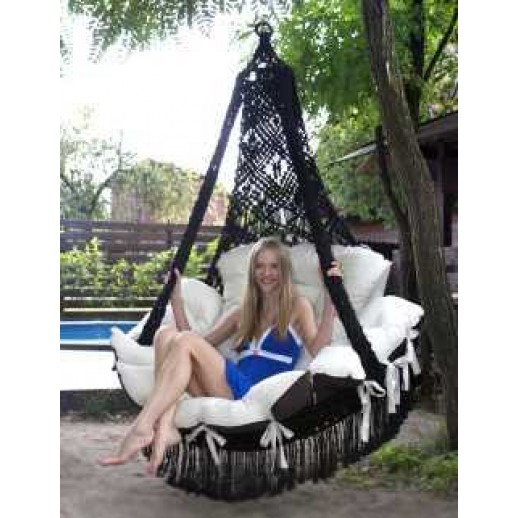 """Подвесное кресло с подушками """"Cartagena"""" ( черный)(без каркаса)"""