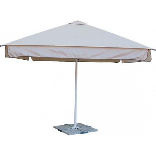Зонт для кафе квадратный 4х4 СТМИТс подставкой(беж)