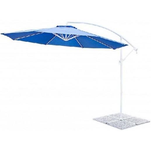 """Зонт для кафе с боковой стойкой """"Ареццо"""" д.3.0м с крестовиной (синий)"""