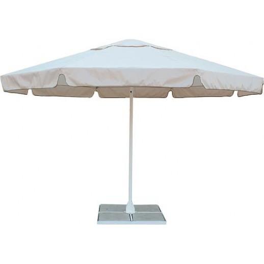 Зонт круглый д.4.0м.СТс подставкой (беж)