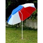 Зонт пляжный 3х цветный с наклоном купола д.220