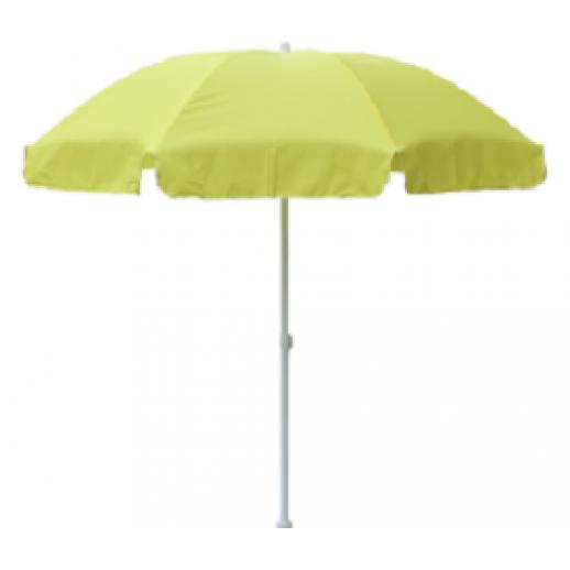 Зонт пляжный круглый д.2.4 желтый оксфорд (с наклоном купола)