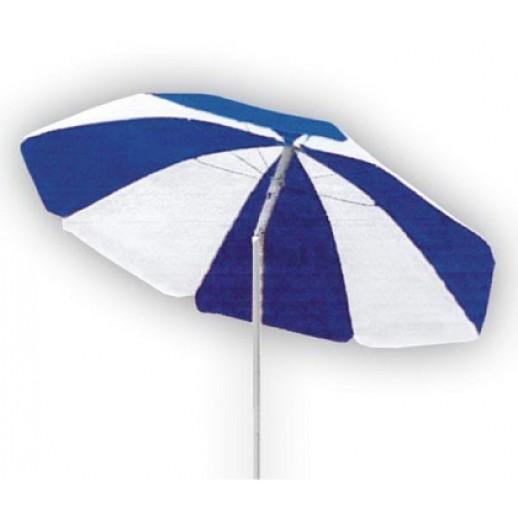 Зонт пляжный сине-белый д.2.0м