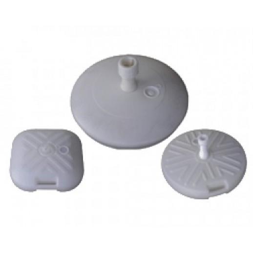 Подставка для зонта из пластика круглая белая