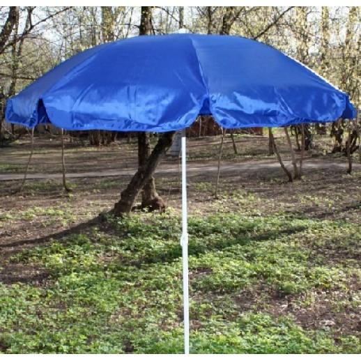 Зонт пляжный круглый д.2.4м с наклоном купола (синий)