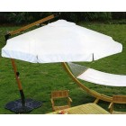 Зонт для кафе арт. S 350 с боковой деревянной стойкой (с подставкой) (беж)