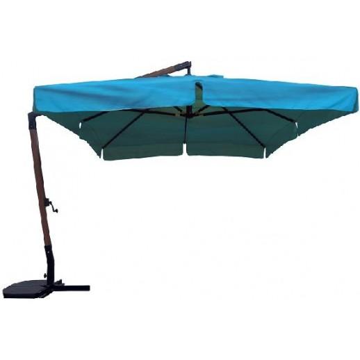 Зонт для кафе 34 М с боковой стойкой (3х4)голубой (подставка и чехол)