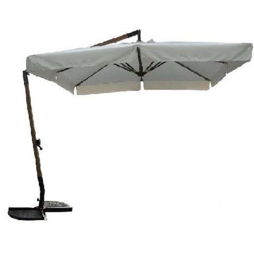 Зонт для кафе 28 с боковой стойкой (2.8х2.8) светлобежевый(подставка и чехол)