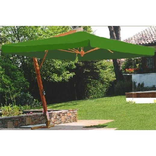 Зонт для кафе 34 Z с боковой стойкой (3х4) зеленый(подставка и чехол)