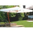 Зонт прямоугольный для кафе 34 с боковой стойкой (3х4)светлобежевый (с подставкой)
