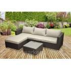Угловой диван из искусственного ротанга