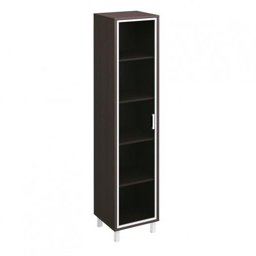 Шкаф для документов универсальный L и R дверь в алюминиевой рамке венге