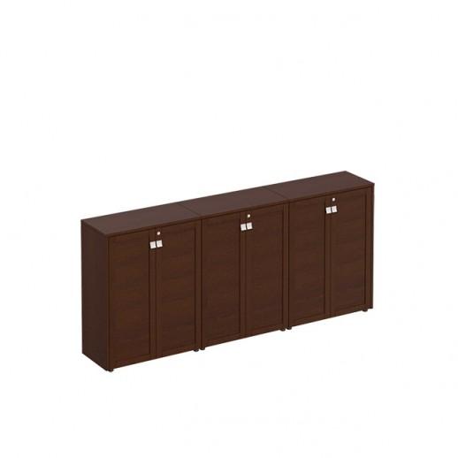 Шкаф комбинированный средний темный дуб
