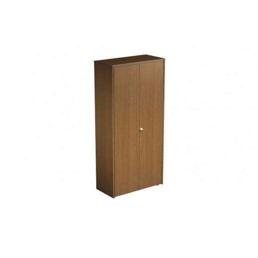 Шкаф для документов закрытый орех ногаро/белый премиум