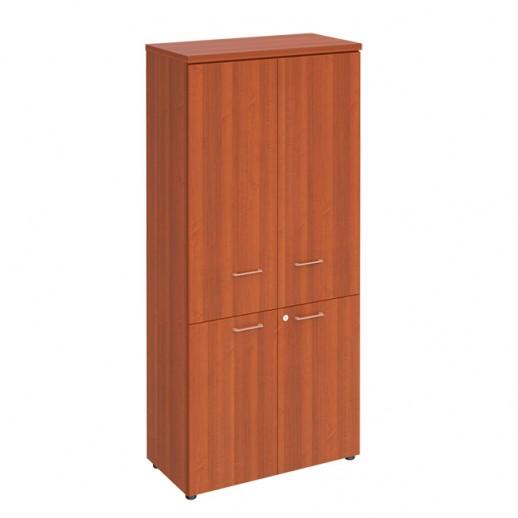 Шкаф для документов закрытый 4-дверный миланский орех