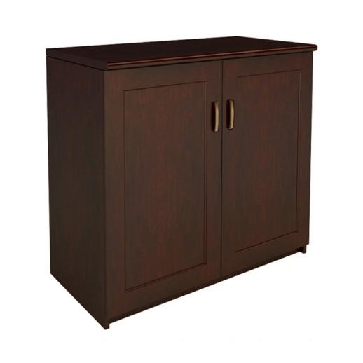Низкий шкаф орех темный