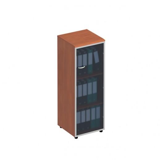 Шкаф для документов со стеклянной дверью правый испанский орех