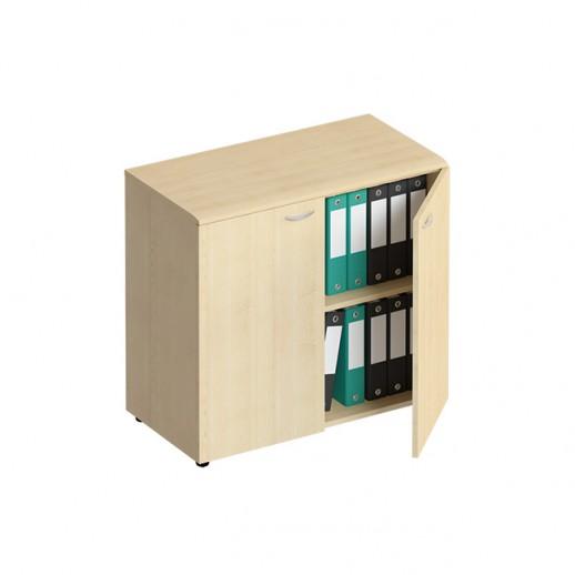 Шкаф для документов низкий закрытый солнечный клен