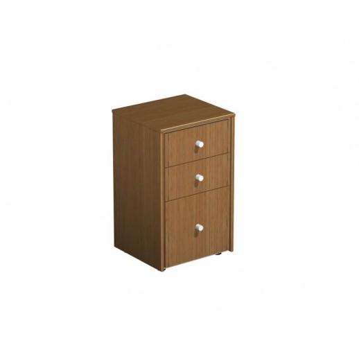 Шкаф для документов с файловыми ящиками орех ногаро/белый премиум