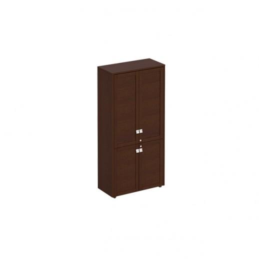 Шкаф для документов закрытый 4-х дверный темный дуб