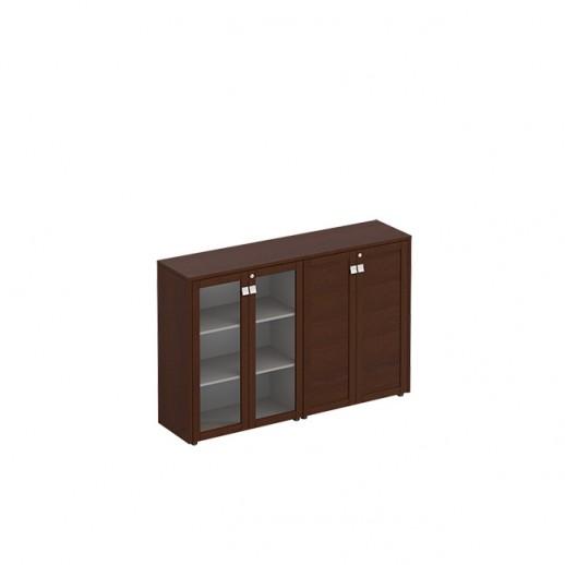 Шкаф для документов средний комбинированный венге