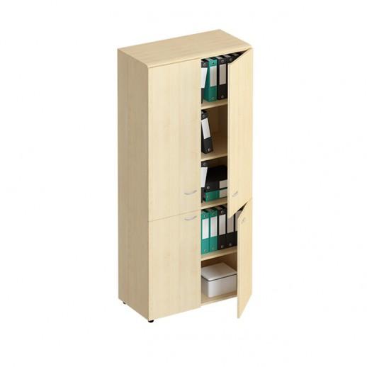 Шкаф для документов закрытый 4-дверный солнечный клен