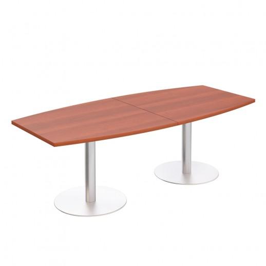 Стол для переговоров круглый на опорах-колоннах миланский орех