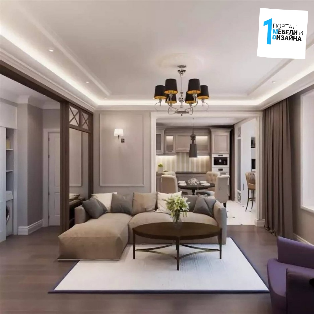 Правила дизайна проходной гостиной